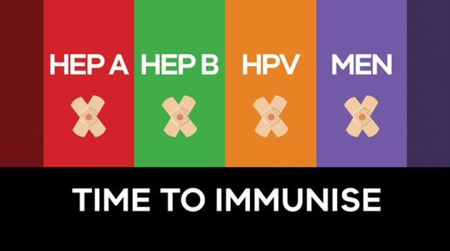 Time to immunise - HEP A, HEP B, HPV, MEN