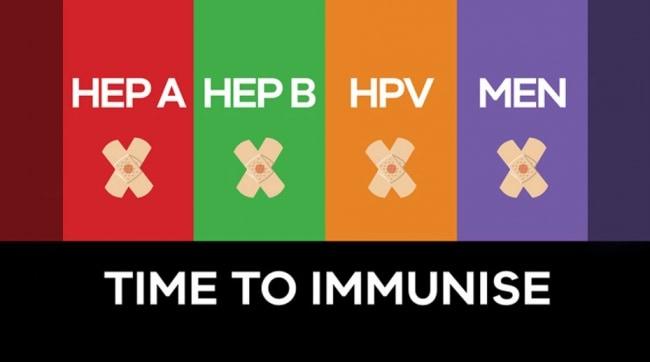Time to immunise - HEP A, HEP B, HPV, MEN