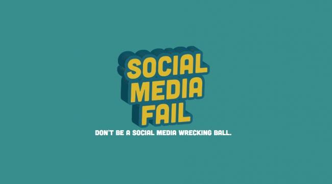 Social Media Fail - Don't be a social media wrecking ball.